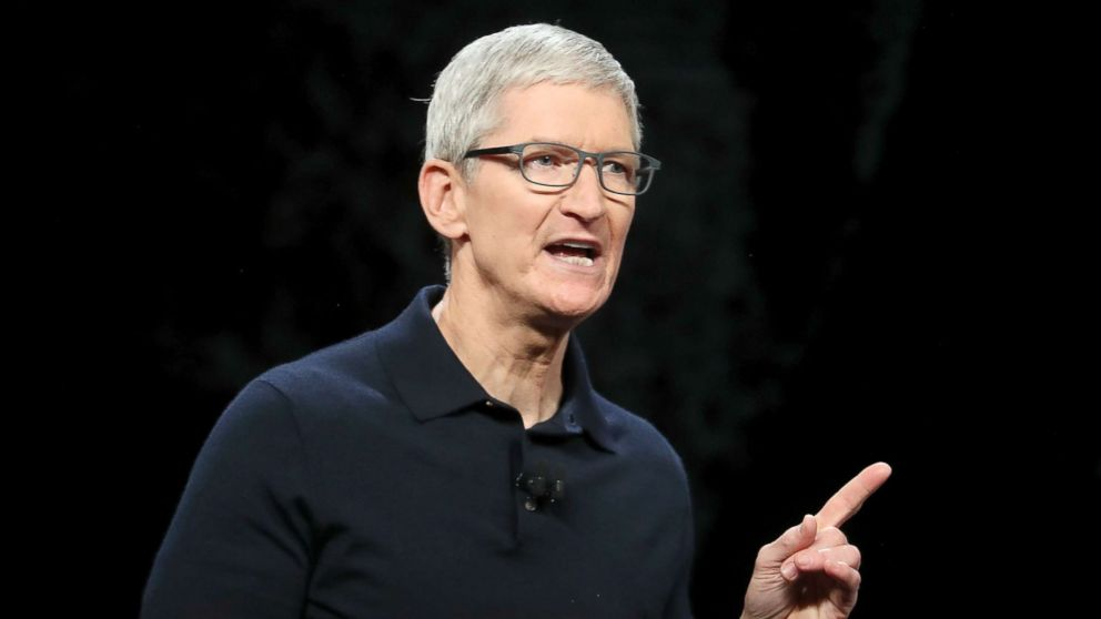 efd08cfb434 Apple CEO Tim Cook speaks during the 2018 Apple Worldwide Developer  Conference (WWDC) at