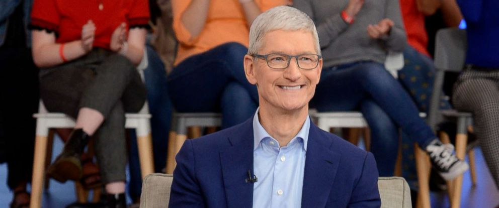 "PHOTO: Tim Cook appears on ""Good Morning America,"" Sept. 18, 2018."