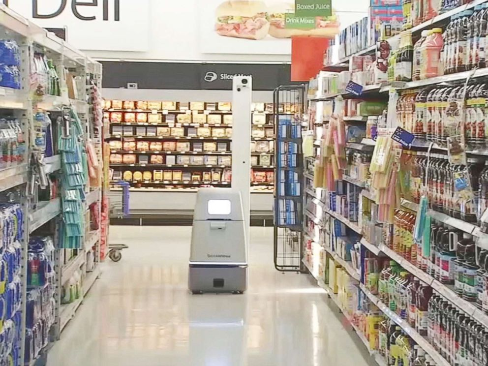 PHOTO: Walmart has started using autonomous robots to track store inventory in a pilot program that has left customers with mixed reactions.