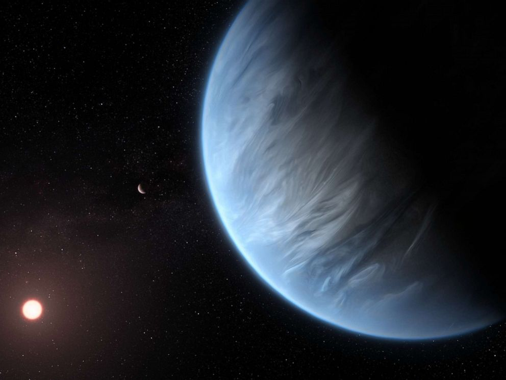 PHOTO: The Hubble Space Telescope has found water vapor and temperatures suitable to support life on an exoplanet called K2-18b, according to NASA.