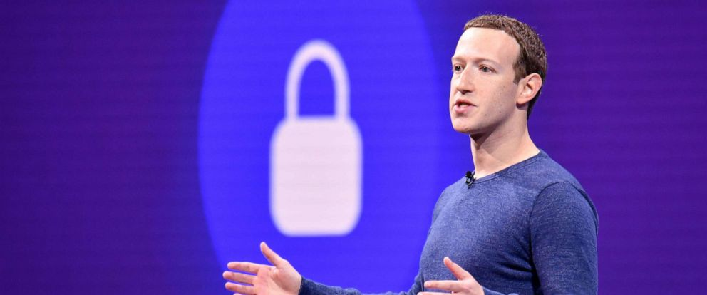PHOTO: In this file photo taken on May 1, 2018, Facebook CEO Mark Zuckerberg speaks during the annual F8 summit at the San Jose McEnery Convention Center in San Jose, Calif.