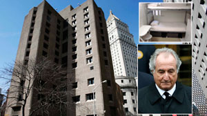 Madoff goes from penthouse to tiny jail cell
