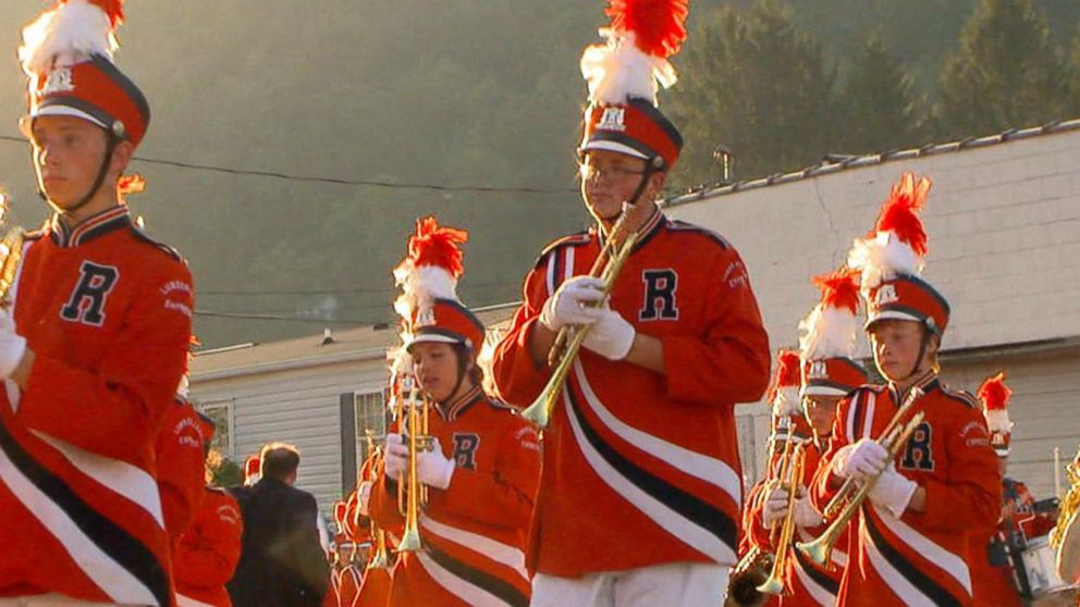 VIDEO: Marching Bands Tune Lifts Up Flooded Town
