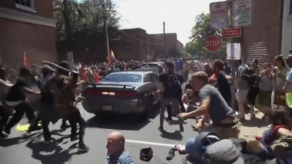 Aftermath Of Car Crash In Charlottesville