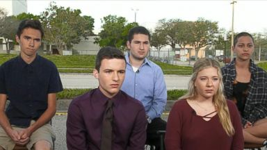 'VIDEO: Florida students announce march on Washington as call to action after school shooting' from the web at 'https://s.abcnews.com/images/ThisWeek/180218_tw_students_march_16x9_384.jpg'