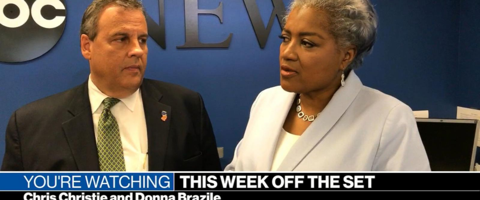 VIDEO: This Week Off the Set with Chris Christie, Donna Brazile