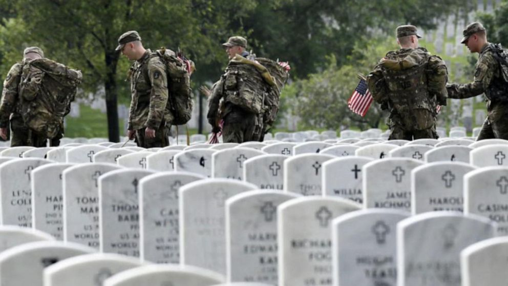 On Memorial Day, remembering 2 fallen heroes with 'Flags In' tradition