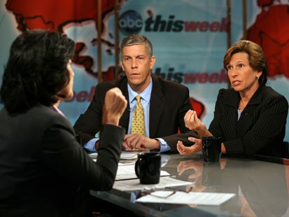 "Arne Duncan and Randi Weingarten discuss education reform on ""This Week."""