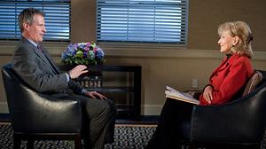 Scott Brown talks with Barbara Walters.
