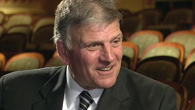 "PHOTO: The Rev. Franklin Graham appears on ""This Week with Christiane Amanpour."""