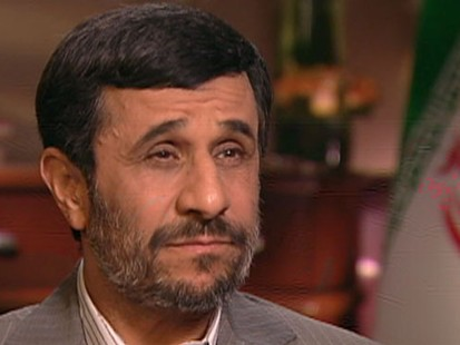 "VIDEO: Iranian President Mahmoud Ahmadinejad joins Christiane Amanpour on ""This Week."""