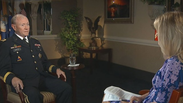 VIDEO: Martha Raddatz speaks with Gen. Dempsey on Edward Snowden and turmoil in the Middle East.