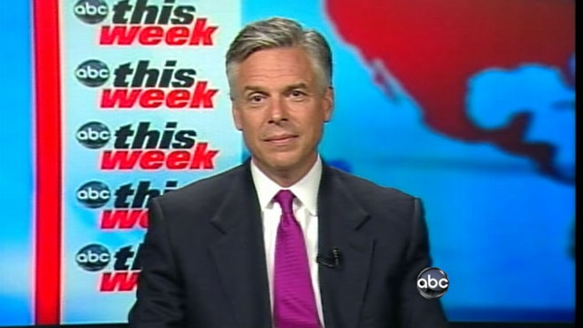 VIDEO: Presidential candidate Jon Huntsman takes on his Republican rivals.