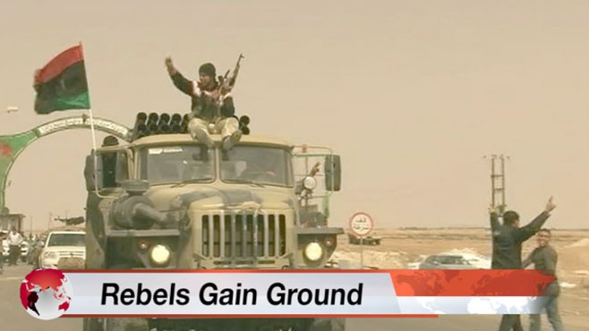 VIDEO: Alex Marquardt reports from Benghazi on the latest gains by Libyan rebels.