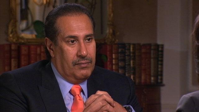 PHOTO Christiane Amanpour interviews the Prime Minister of Qatar, Sheikh Hamad bin al-Thanisim al-Thani.