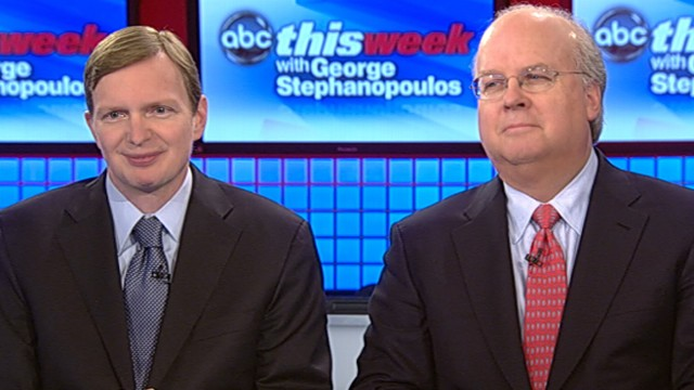 "VIDEO: Former campaign chiefs Jim Messina and Karl Rove join the ""This Week"" roundtable."