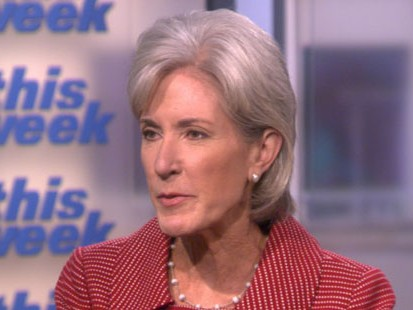 "VIDEO: ""This Week"" interview with HHS Secretary on the political battle over reform."