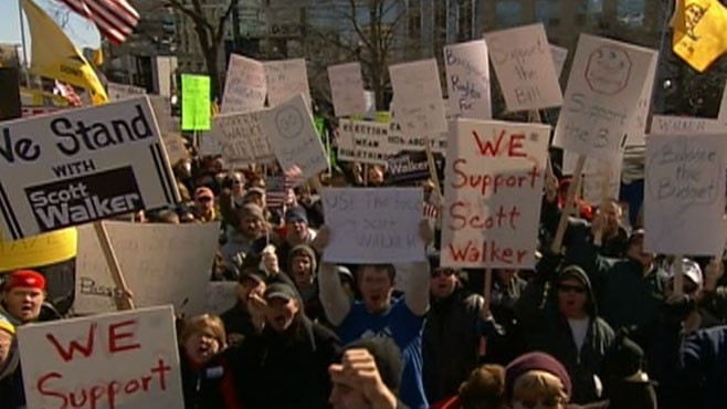 VIDEO: Protests in Wisconsin