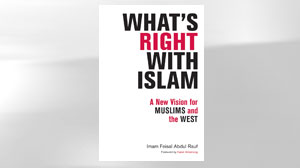 "The cover of Imam Feisal Abdul Rauf?s book ""Whats Right with Islam."""
