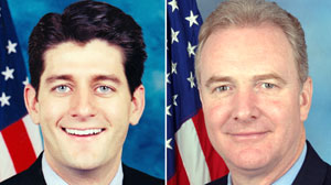 PHOTO Rep. Paul Ryan and Rep. Chris Van Hollen