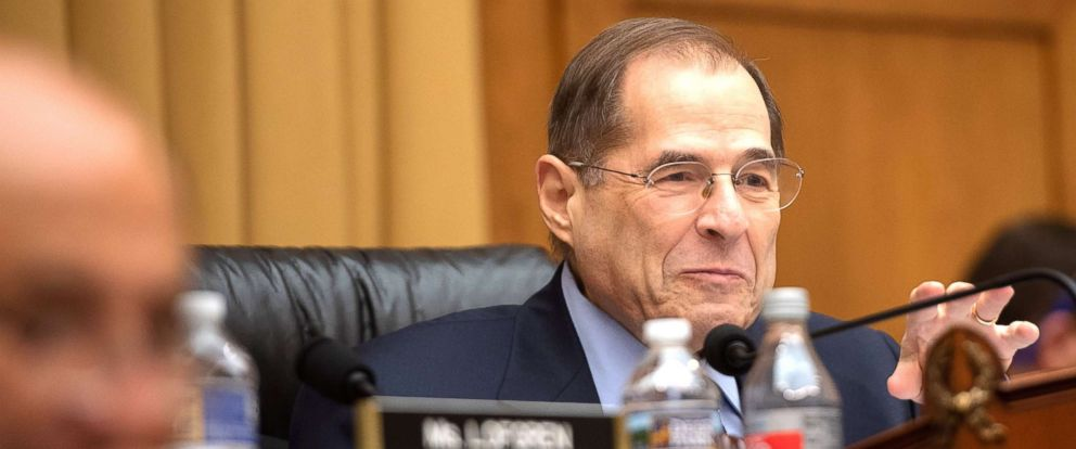 PHOTO: U.S. Representative Jerry Nadler, Chairman of the House Judiciary Committee, speaks during a hearing with acting Attorney General Matt Whitaker on Capitol Hill in Washington, D.C., Feb. 8, 2019.