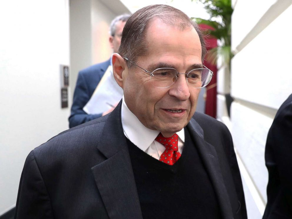PHOTO: U.S. Representative Jerry Nadler arrives for a House Democratic party caucus meeting at the U.S. Capitol in Washington, Jan. 9, 2019.