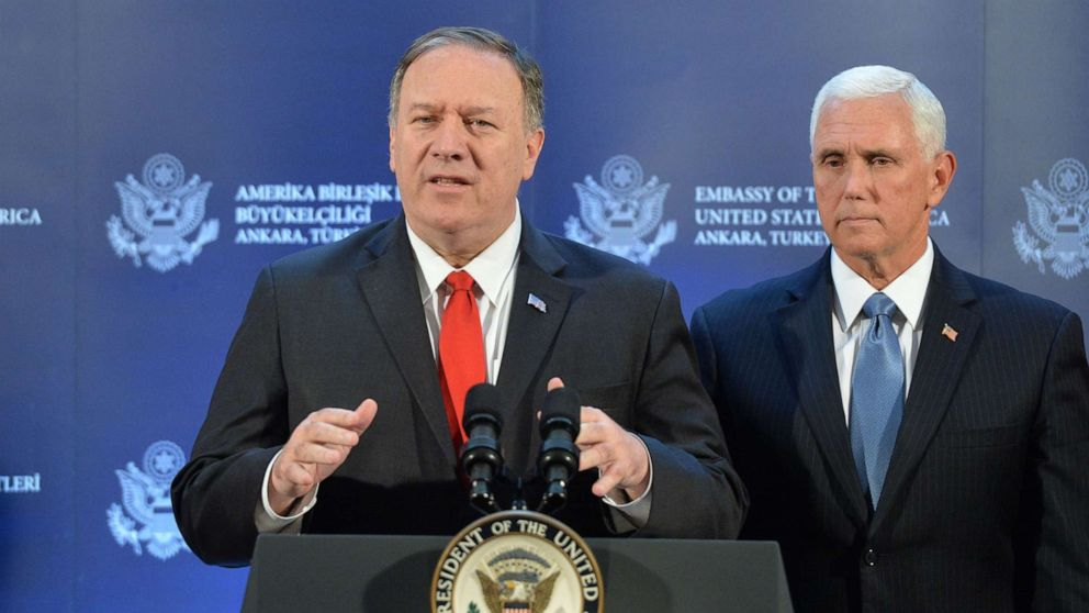 Pompeo defends deal brokered with Turkey to 'pause' military operations in Syria