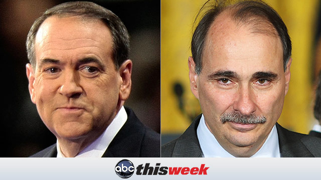 Mike Huckabee and David Axelrod on This Week