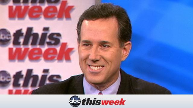 PHOTO: Rick Santorum on This Week