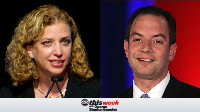 DNC Chair Debbie Wasserman Schultz and Republican National Committee chairman Reince Priebus on This Week