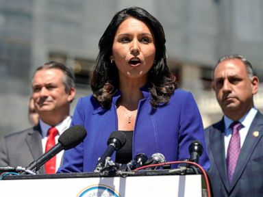 PHOTO: Rep. Rep. Tulsi Gabbard speaks on Capitol Hill in Washington, May 15, 2019.