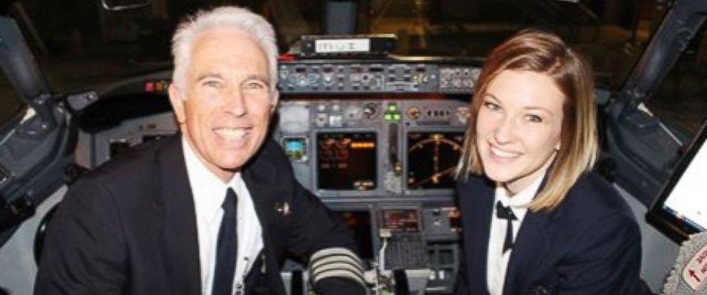 "PHOTO: Jen Byrne said flying with her dad is ""what Ive wanted since I was 8 years old."""