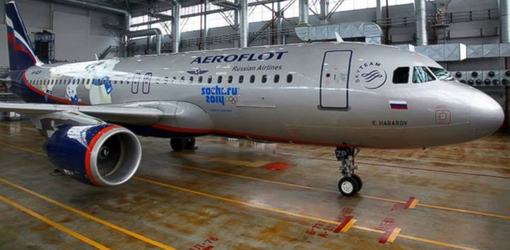 PHOTO: An Aeroflot plane sits in the hangar in this undated Facebook photo.