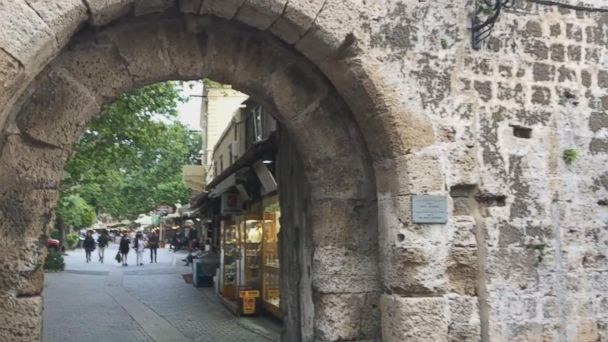 Inside the old town of Rhodes, Greece