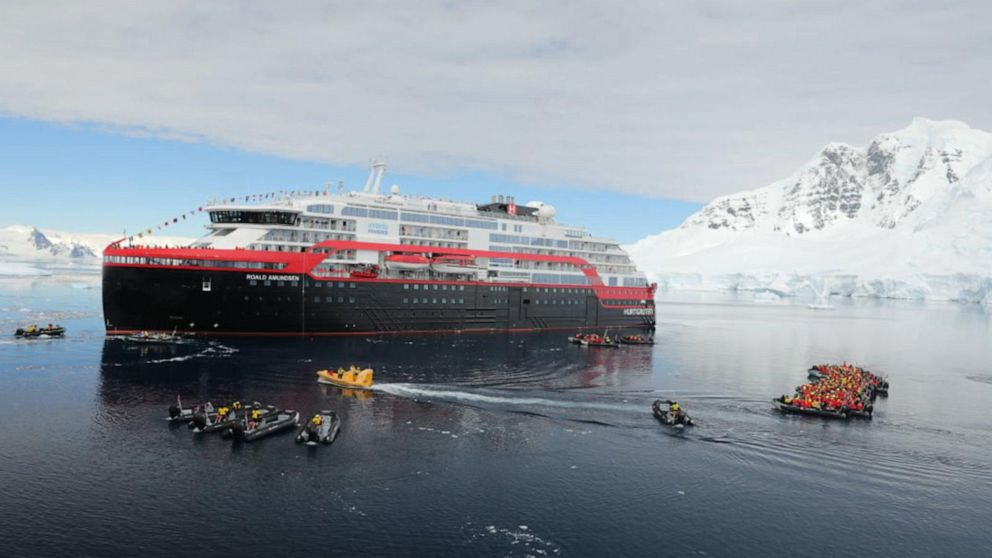 Battery-powered cruise ship sets sail in Antarctica