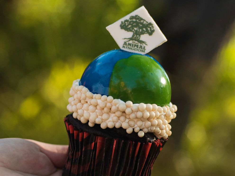 PHOTO: The Tree of Life Cupcake is a vanilla cupcake topped with buttercream and an edible chocolate piece available at Creature Comforts at Disney;s Animal Kingdom Theme Park.