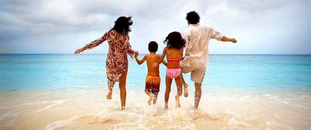 PHOTO: A family enjoys summer vacation in the Carribean in this undated stock photo.
