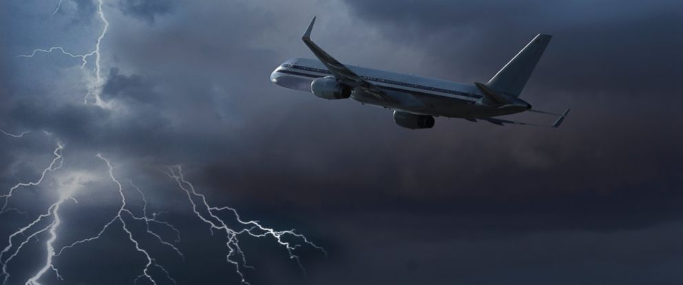 Image result for Plane flying lightning