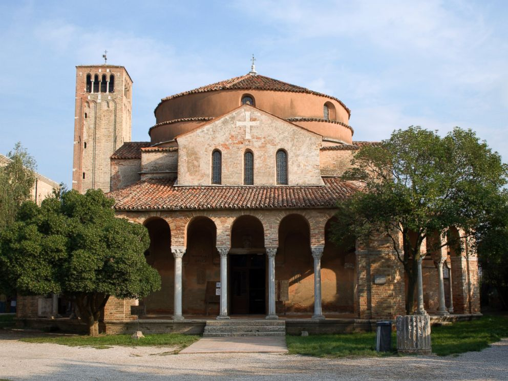 PHOTO: The Church of Santa Fosca on the deserted lagoon island of Torcello, Italy is pictured in this undated file photo.
