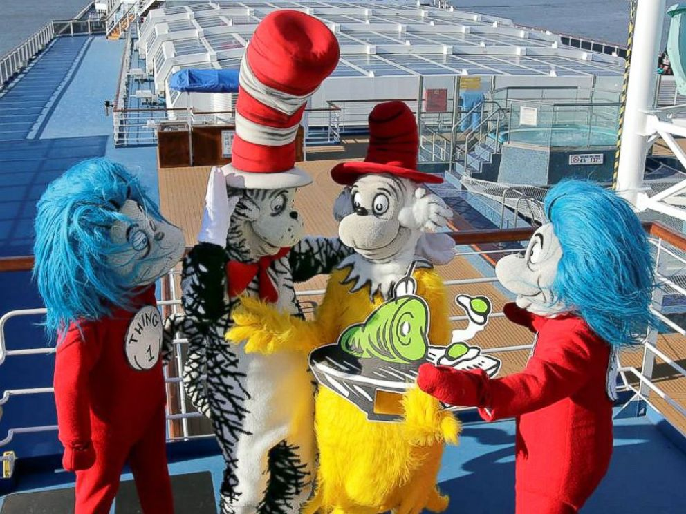 PHOTO: Carnival Cruise Lines today unveiled an exclusive partnership with Dr. Seuss Enterprises to bring the beloved childrens brand and favorite characters to the lines fleet of 24 Fun Ships.