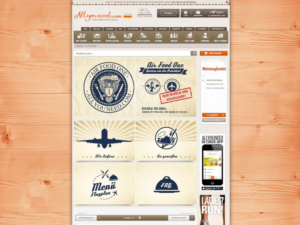 PHOTO: Allyouneed.com is testing a program that delivers airline food to peoples home.