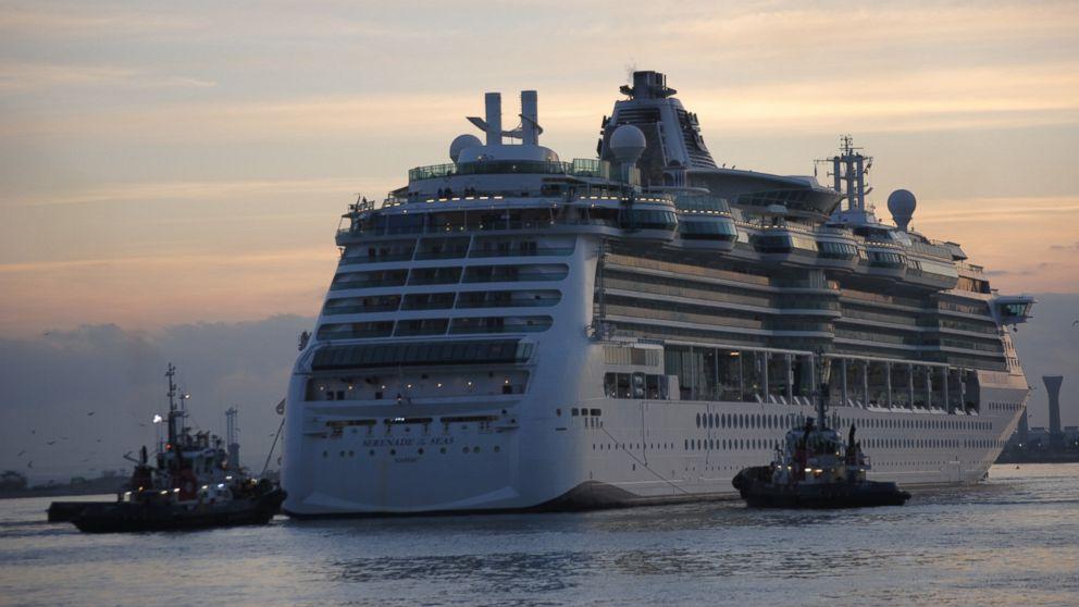 """Royal Caribbean's """"Serenade of the Seas"""" ship."""