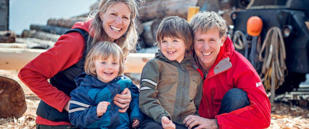 "PHOTO: The Kirkby Family, of ""Big Crazy Family Adventure"" - Left to Right: Christine Pitkanen, Taj Kirkby, Bodi Kirkby, Bruce Kirkby."