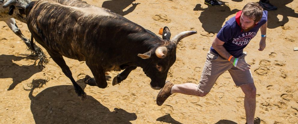 PHOTO: Organizers say that while running with bulls is inherently dangerous, only 15 deaths have occurred since 1924.