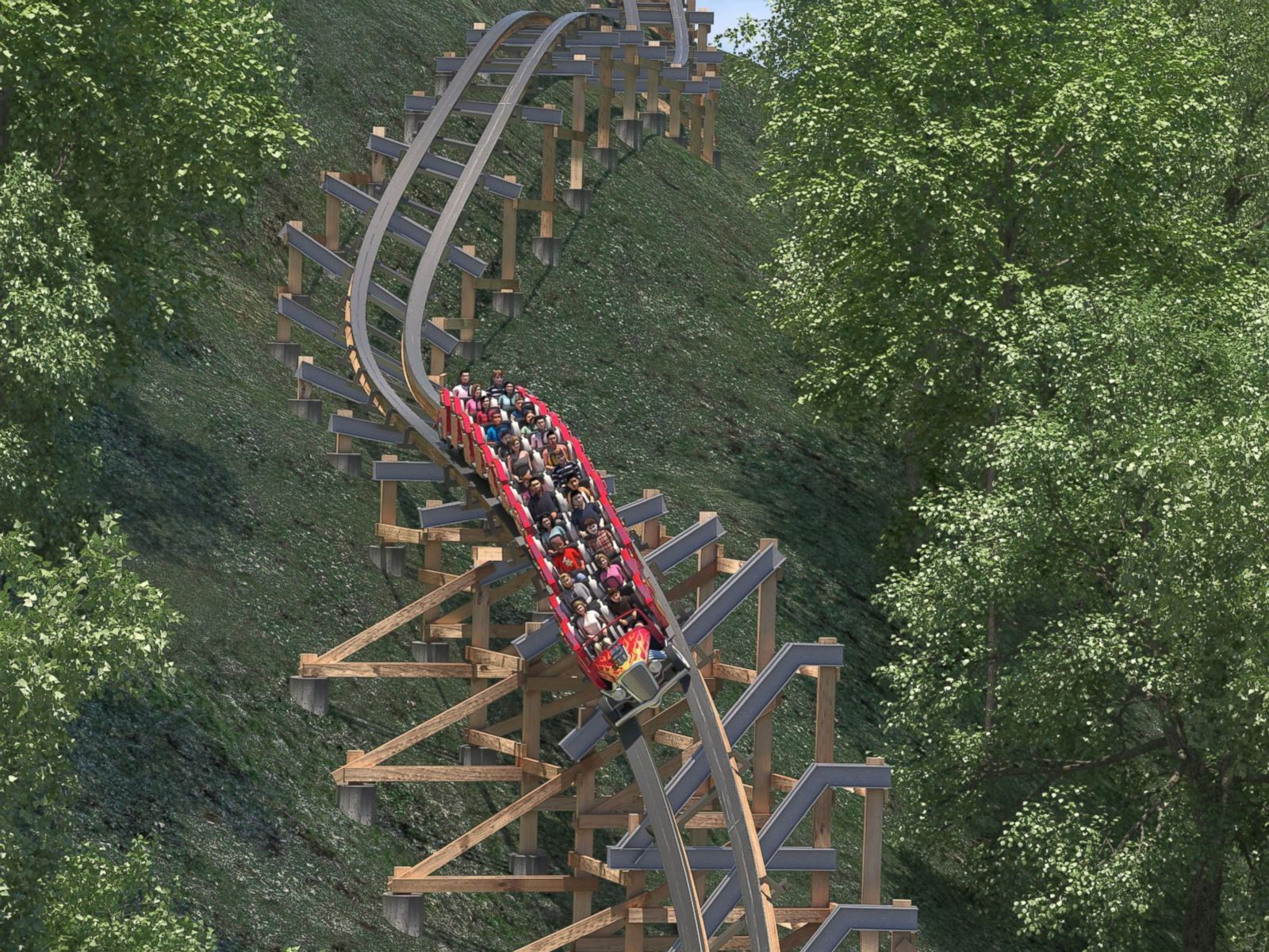 World's Fastest' Wooden Coaster to Open at Dollywood - ABC News