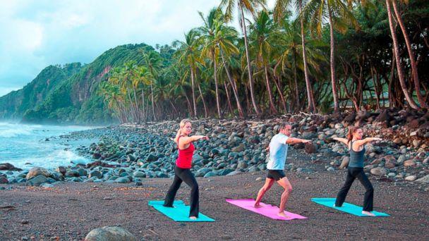 PHOTO: Yoga on the Beach in Rosalie, Dominica.