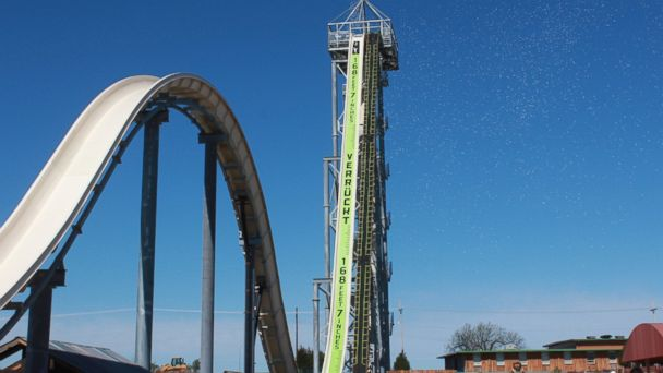 PHOTO: Verrukt, under construction at Schlitterbahn in Kansas City, Kansas.