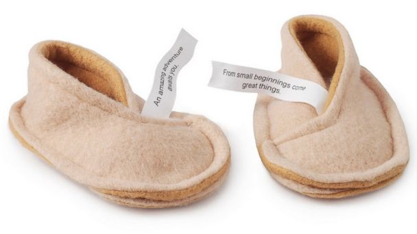 PHOTO: For your traveling new parent, Baby Fortune Cookie Booties, $28.