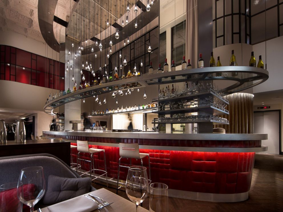 PHOTO: The Commons Club inside of Chicagos Virgin Hotel.