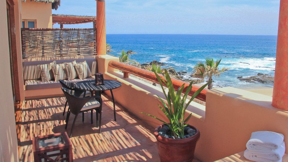 The Esperanza resort in Los Cabos, Mexico  offers spacious rooms starting at 925 square feet, and are decorated in traditional Baja style, with authentic artwork and wood detailing.